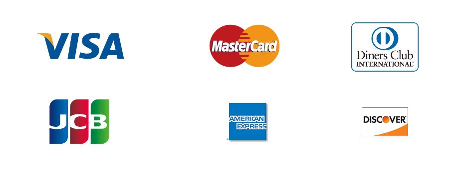 取扱いクレジットカード種類