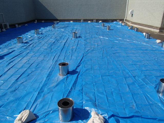 雨漏り対策:ブルーシート